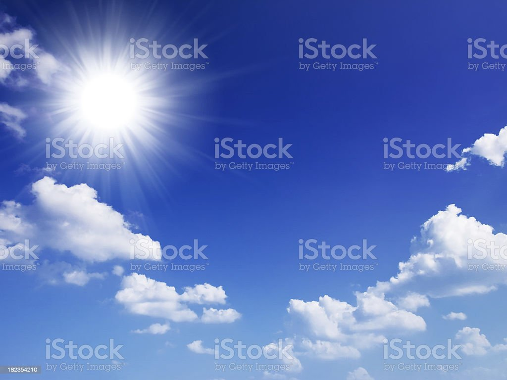 Cielo e sole - foto stock