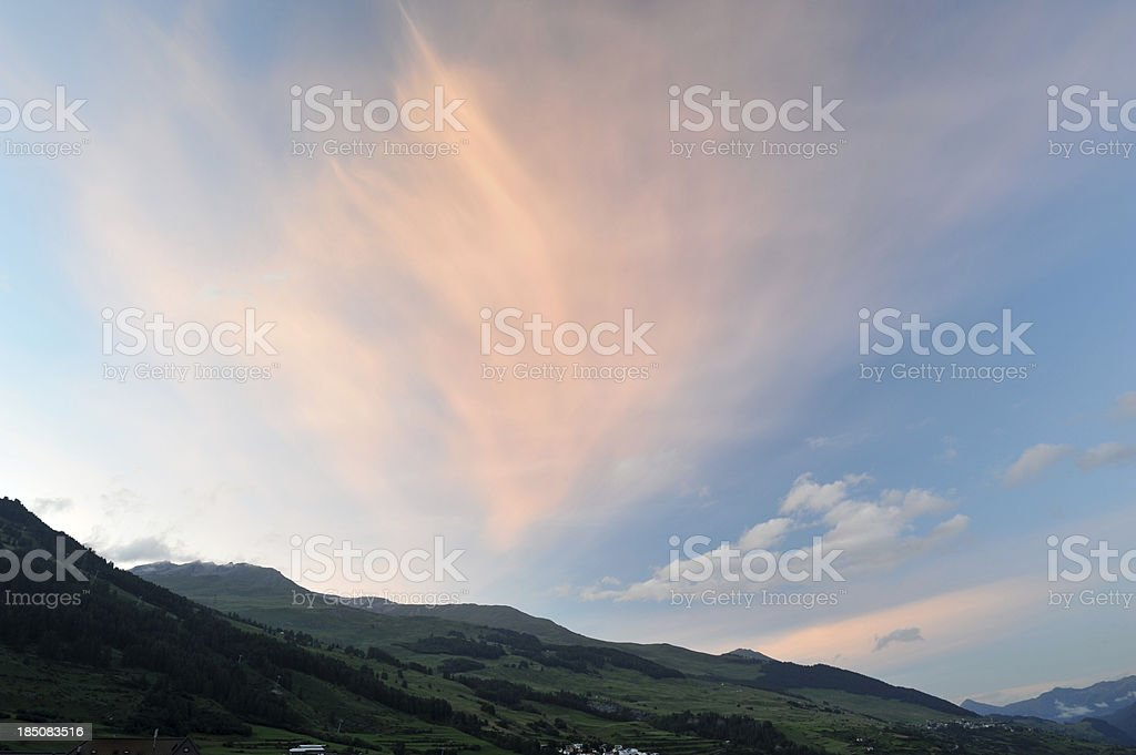 Sky at Sunset royalty-free stock photo