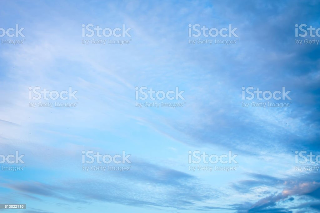 Sky background at sunset stock photo