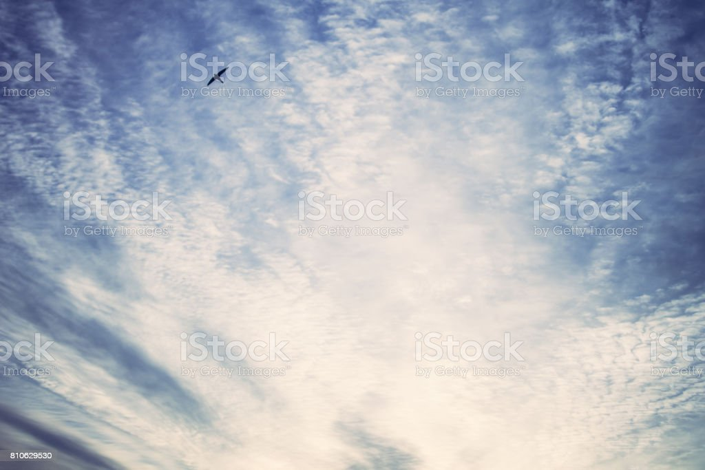 Sky background at sunset stock photo
