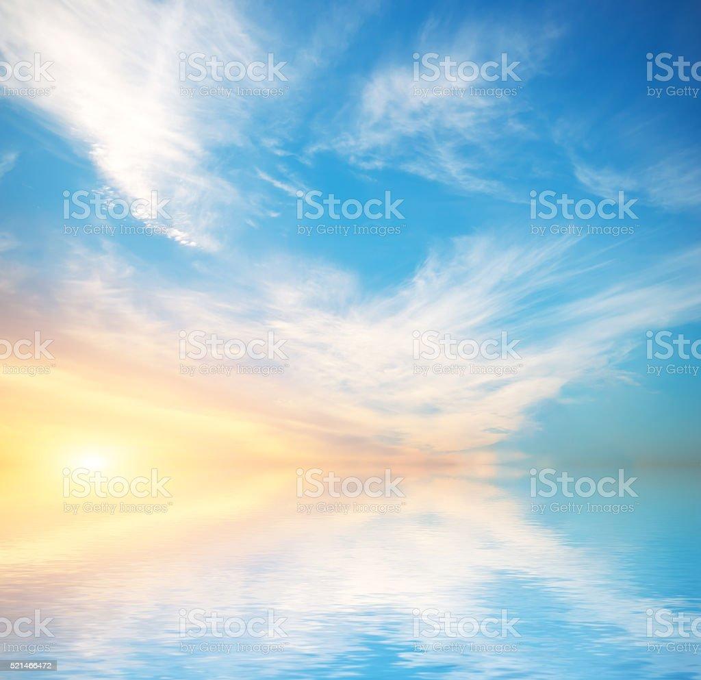 Himmel Hintergrund auf Sonnenuntergang – Foto