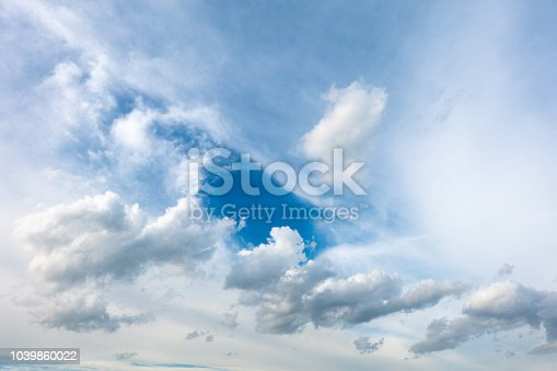 917116520 istock photo sky background with blue white cloud light bright clean clear 1039860022
