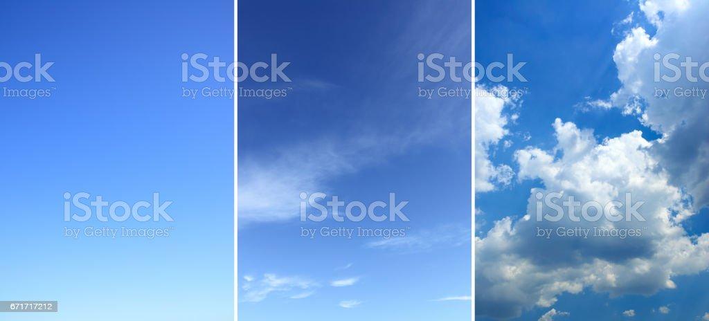 Sky backgrounds set stock photo