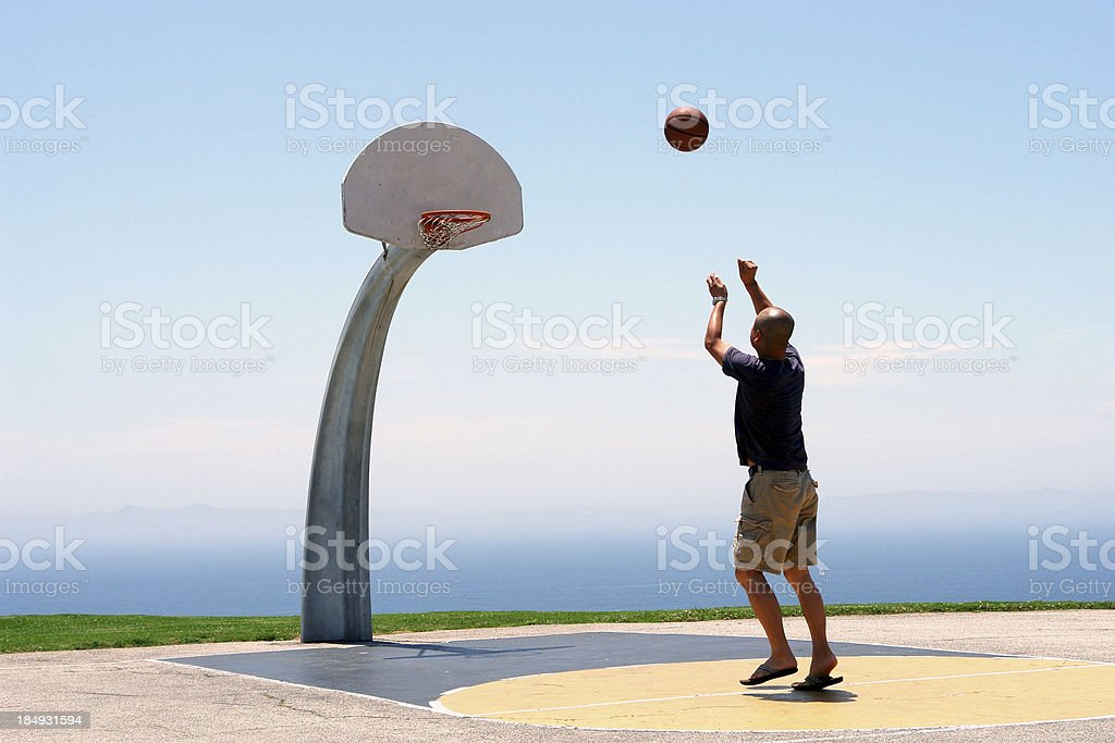 Sky BasketBall Heaven Sent stock photo