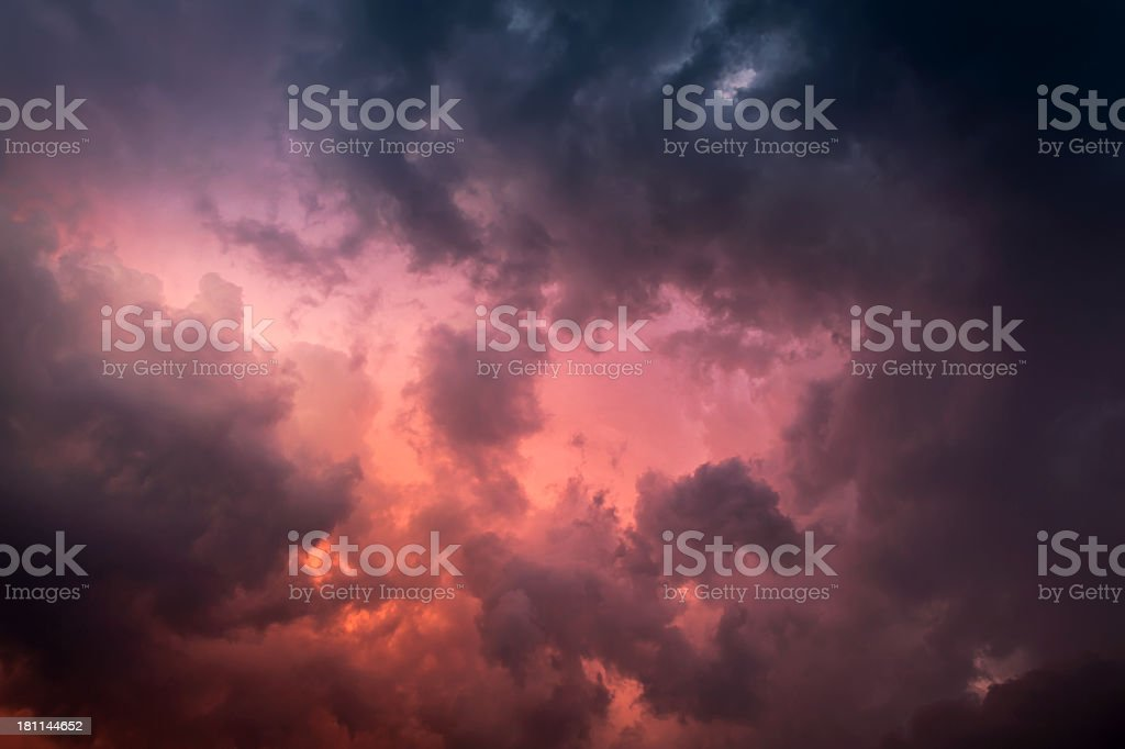 Sky before the storm royalty-free stock photo