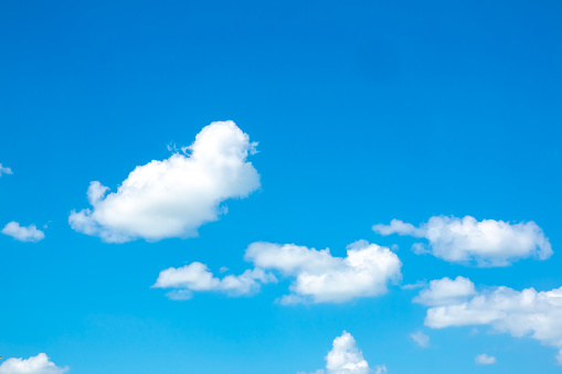 Sky blue and white cloud on daytime