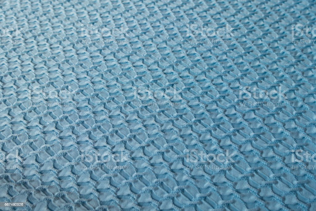 Sky blue crinkle fabric (diagonal) stock photo