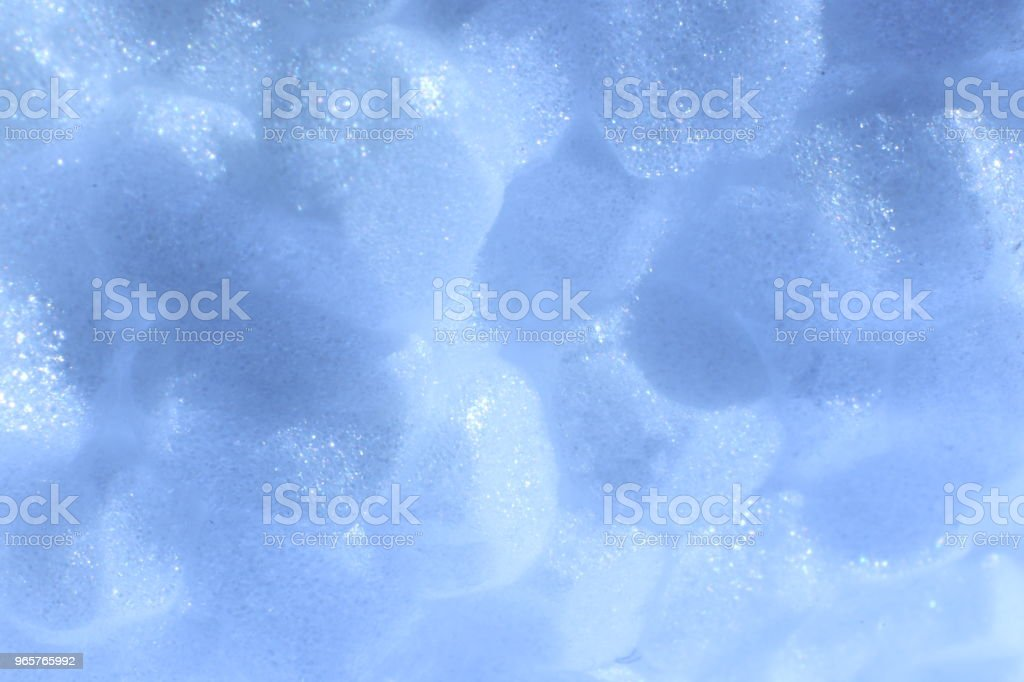 Sky Blue Foam Plastic Texture. Abstract Styrofoam Background. Macro Closeup. - Royalty-free Abstract Stock Photo