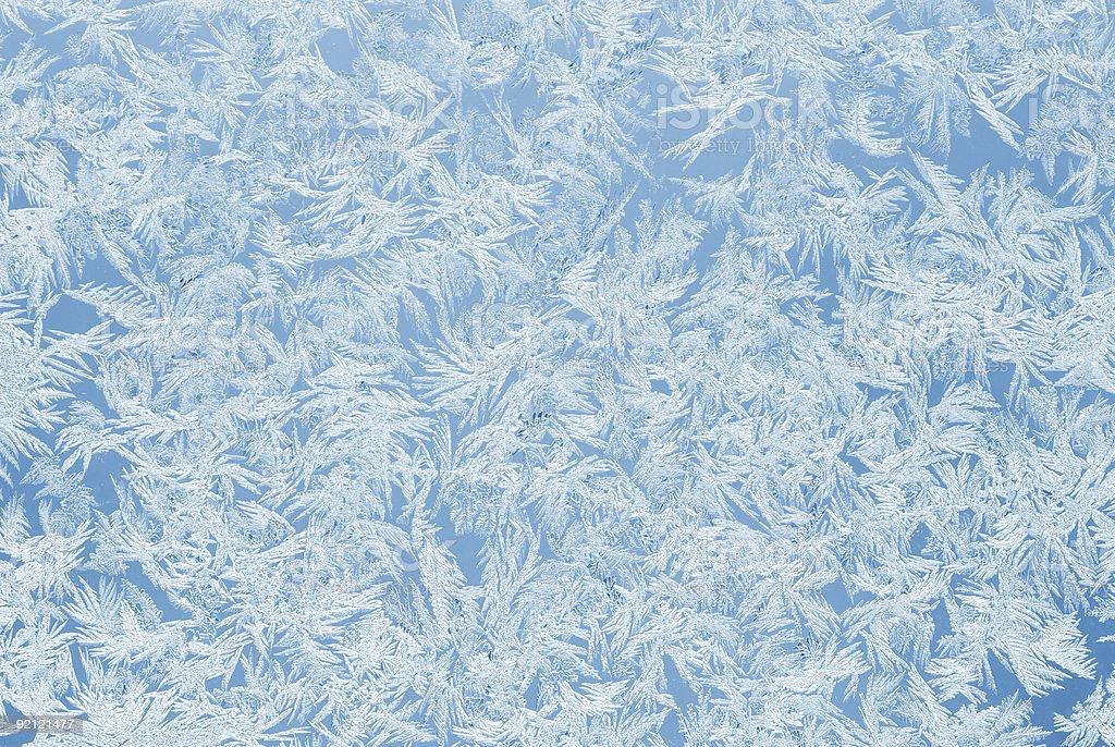 Sky blue frost stock photo