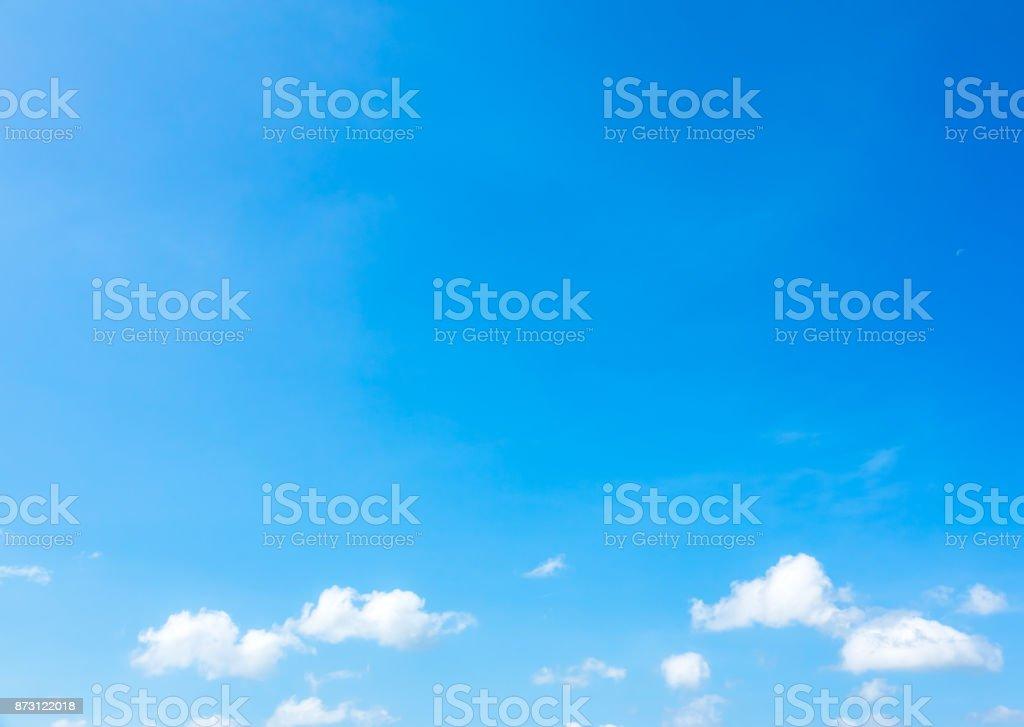 Sky blue or azure sky and beautiful cloud stock photo