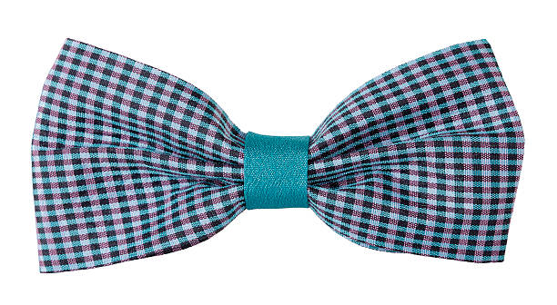 Sky blue purple plaid bow tie This is a lovely plaid bow tie. bow tie stock pictures, royalty-free photos & images