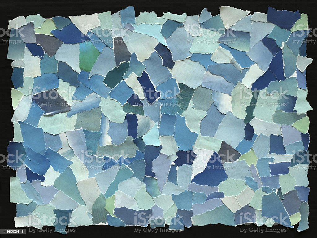 Sky blue texture of torn paper stock photo
