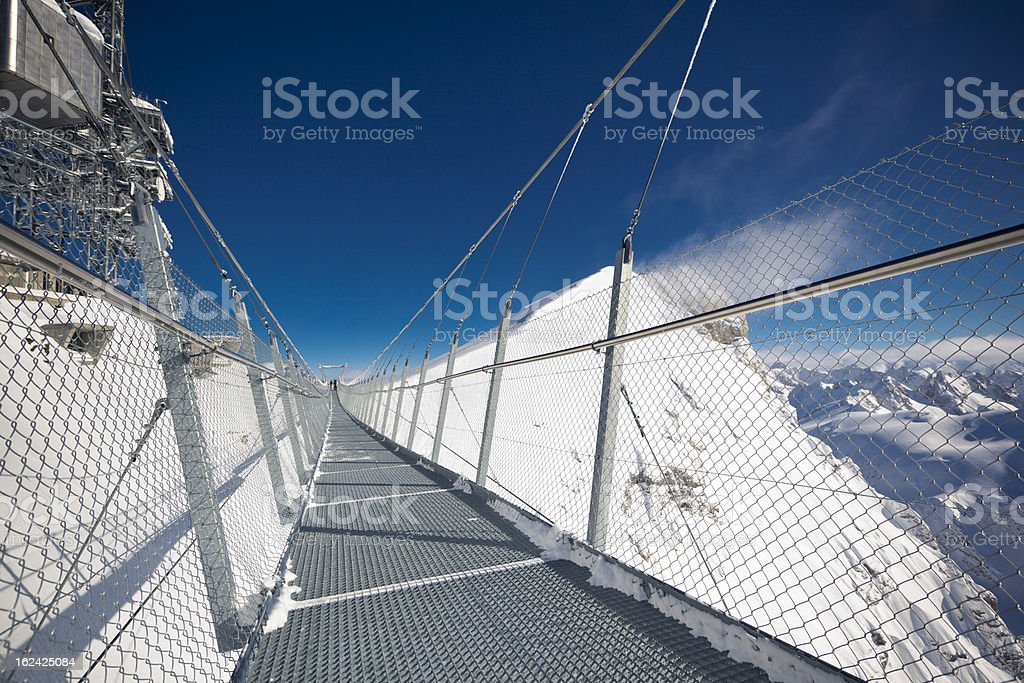 sky bridge over the swiss alps royalty-free stock photo