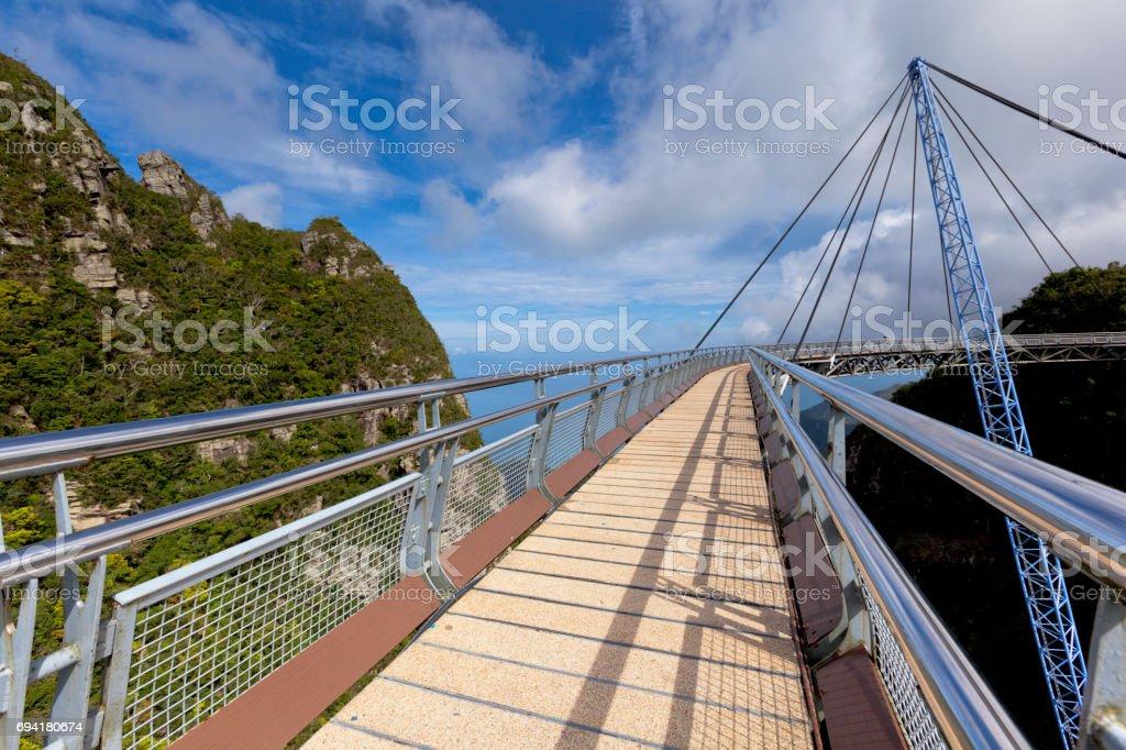 sky bridge scenic view stock photo
