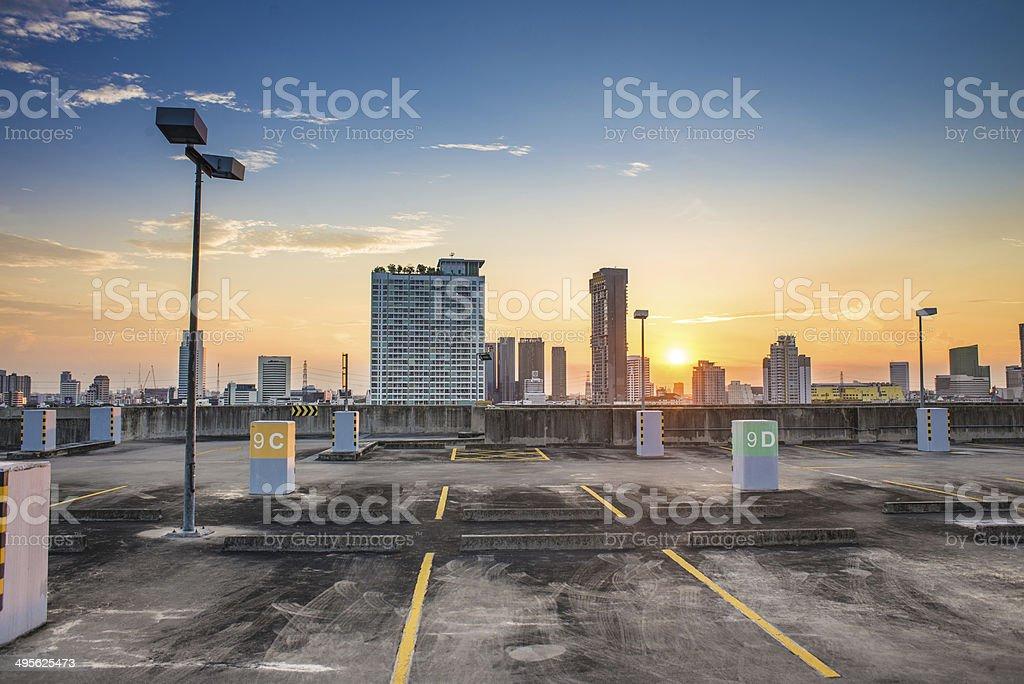 sky car park stock photo