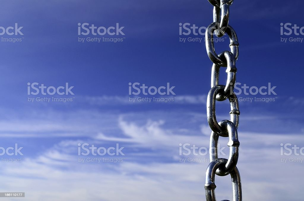 Sky chain vertical stock photo