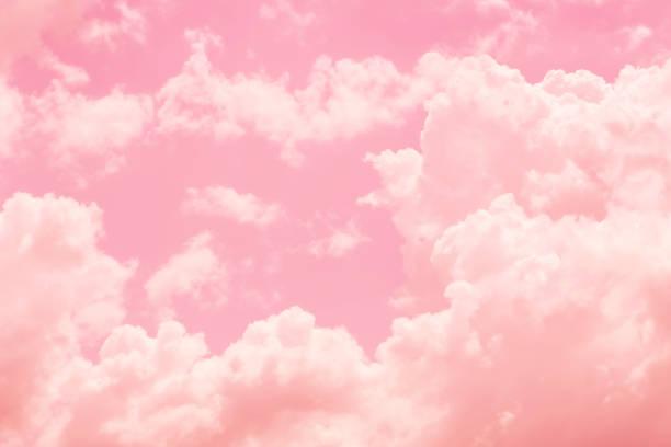 niebo chmura różowy miłość słodki kolor miłości dźwięk na tle karty ślubnej. - różowy zdjęcia i obrazy z banku zdjęć