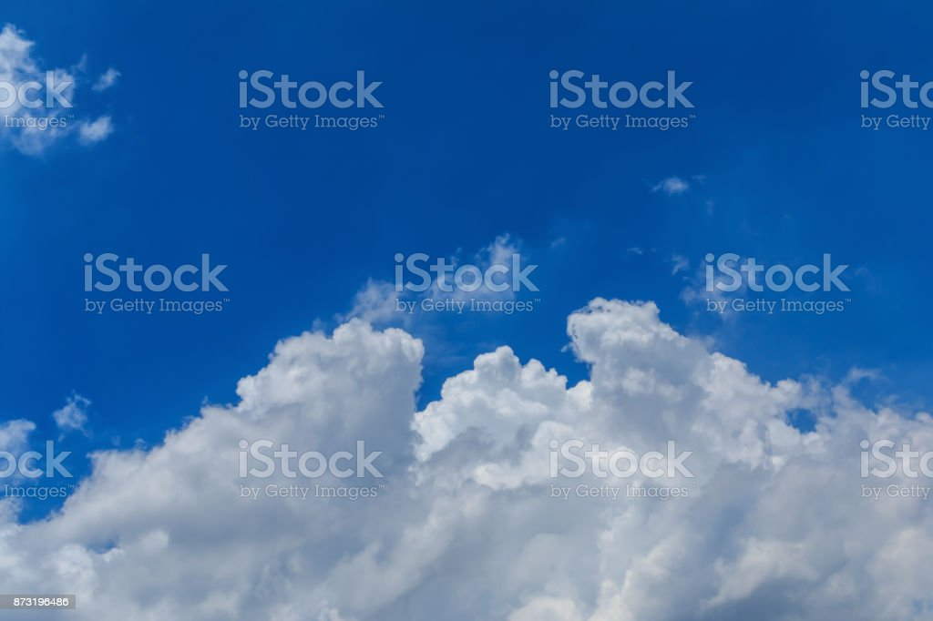 Sky clouds and the vast blue sky. Abstract background. stock photo