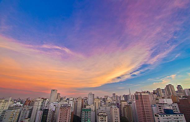 Sky colours stock photo