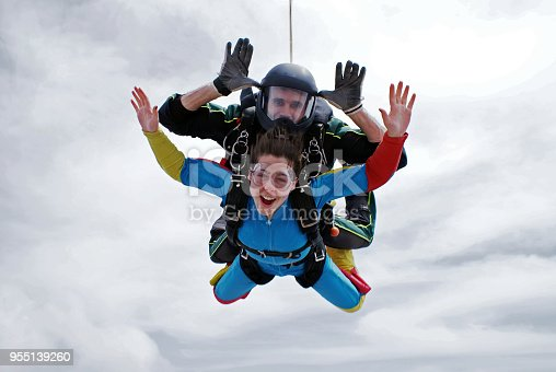 istock Sky diving tandem excitement 955139260