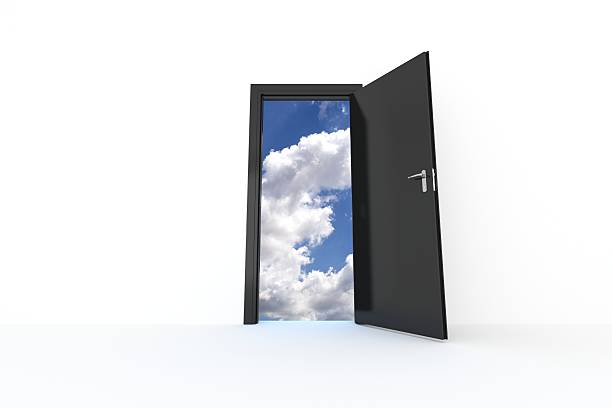 Sky Door stock photo