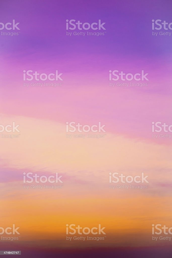 sky during evening stock photo