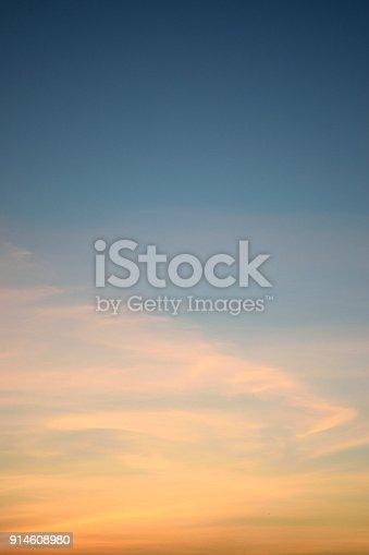 Sky Evening Beautiful on background