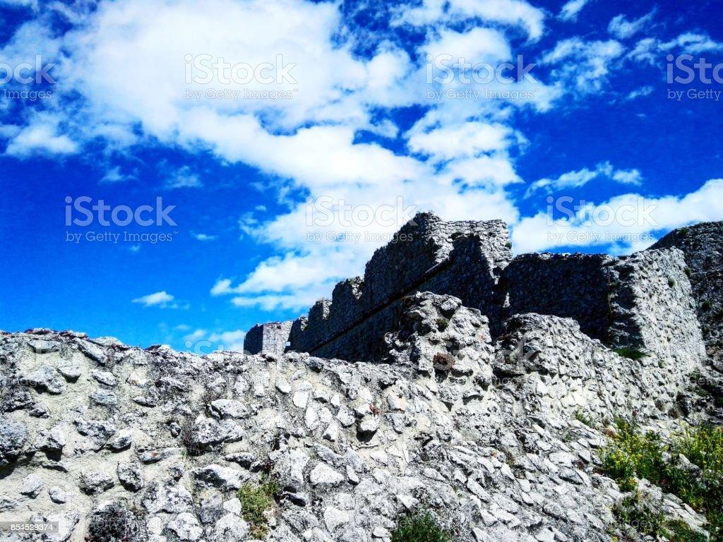 Sky fortress stock photo