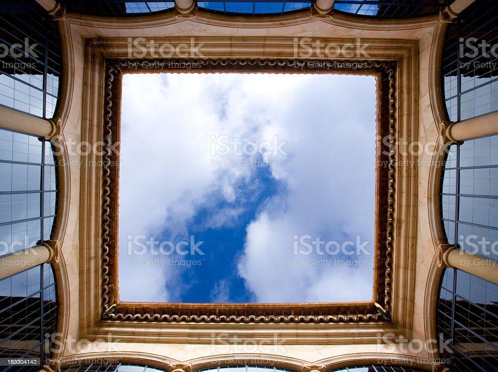Sky Framed royalty-free stock photo