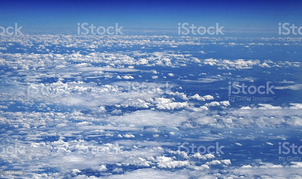 sky from the plane view royalty-free stock photo