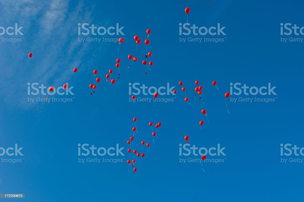 sky full of ballons royalty-free stock photo