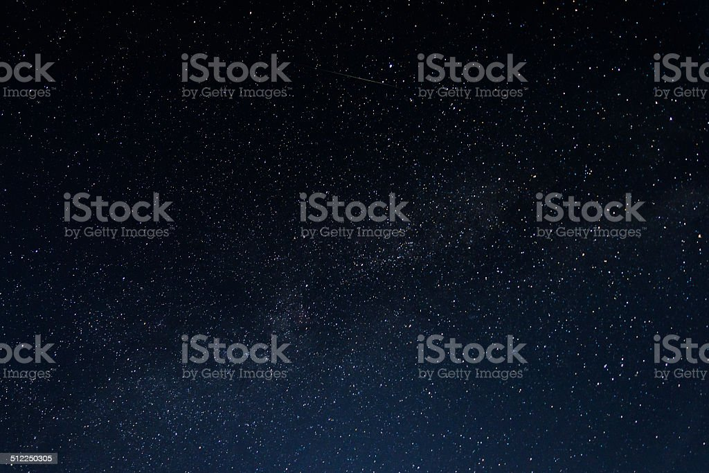 Sky full of stars stock photo