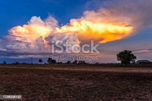istock Sky, Gold Colored, Cloud - Sky, Sunset, Cloudscape 1238008132
