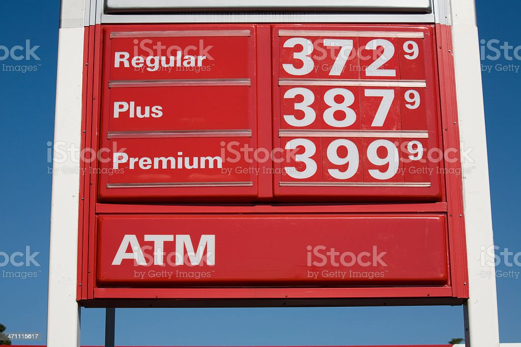 Sky High Gas Prices stock photo