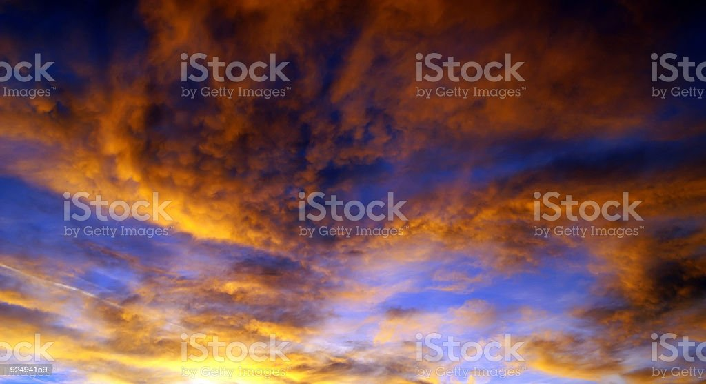 Sky in Flames royalty-free stock photo
