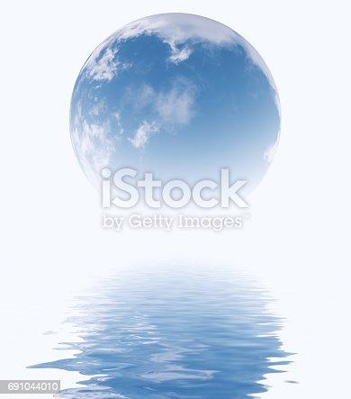 istock Sky in glass sphere. 691044010