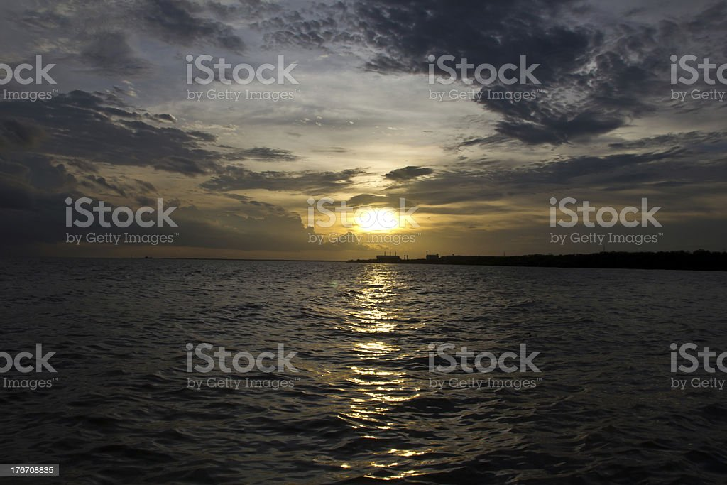 Sky in sunset at sea royalty-free stock photo
