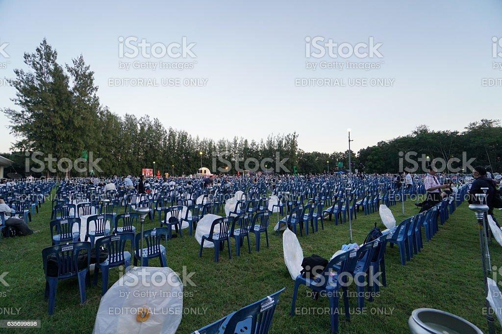 Sky lantern festival(yee peng lanna)in Chaing Mai, Thailand royalty-free stock photo