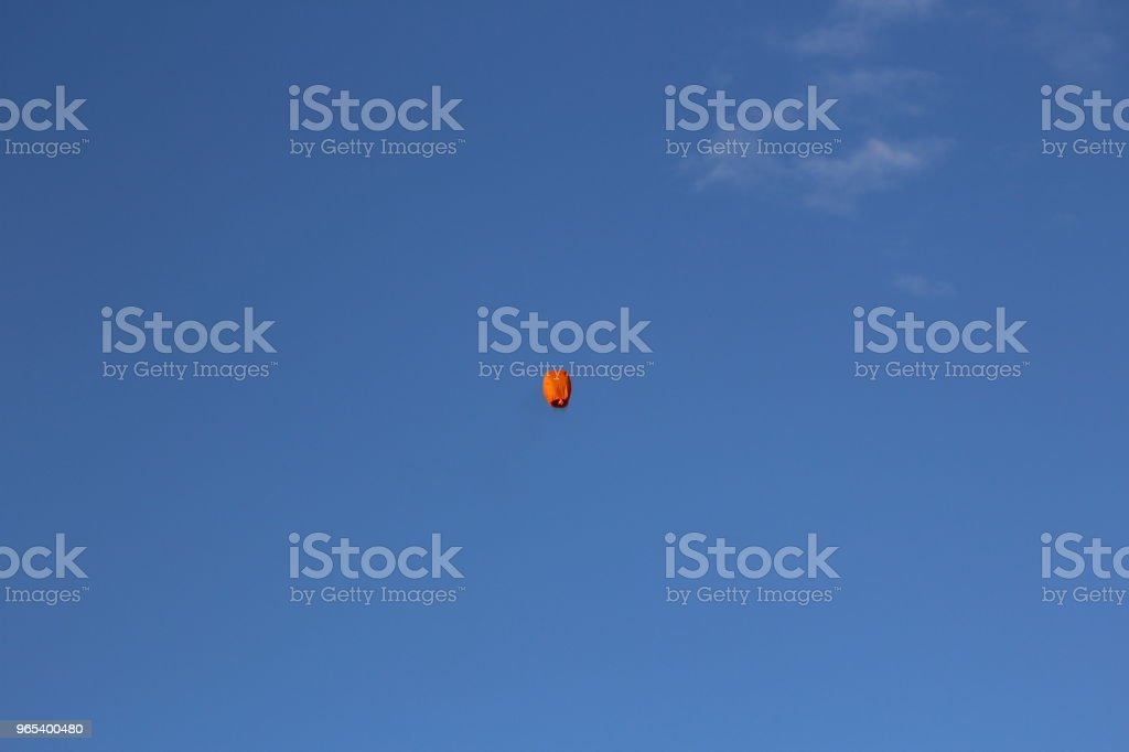 sky lantern in the evening sky royalty-free stock photo