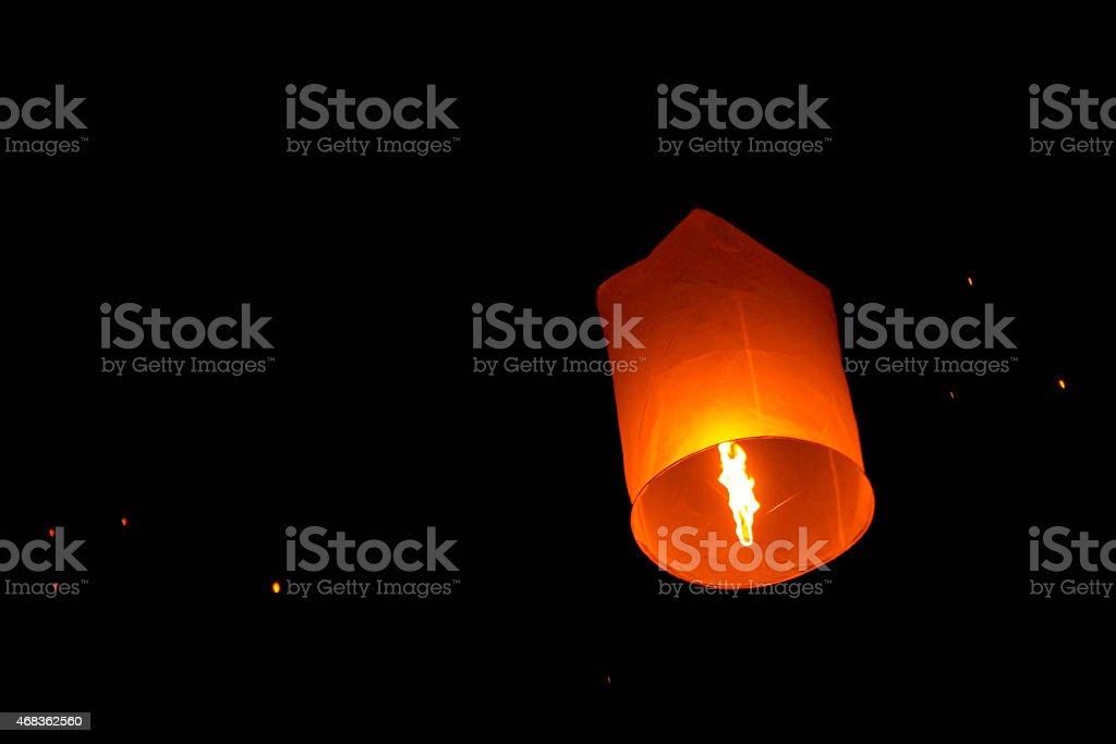 Sky lanterns festival,Thailand, Loy Krathong and Yi Peng Festival royalty-free stock photo