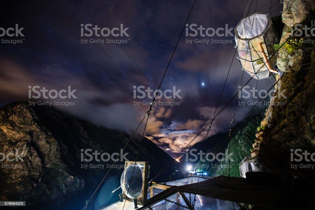 Sky Lodge,Urubamba, Sacred Valley Peru stock photo