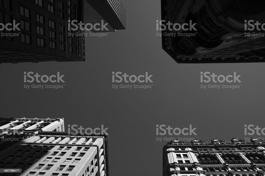 sky of nyc stock photo