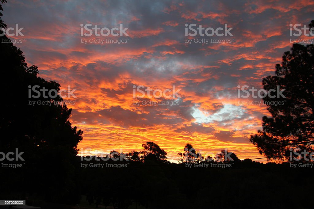 Sky on Fire stock photo