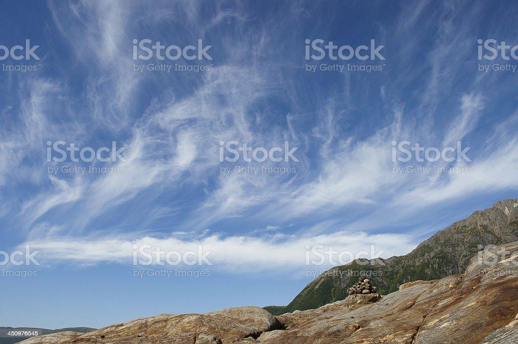 Sky on Svartisen, Norway stock photo