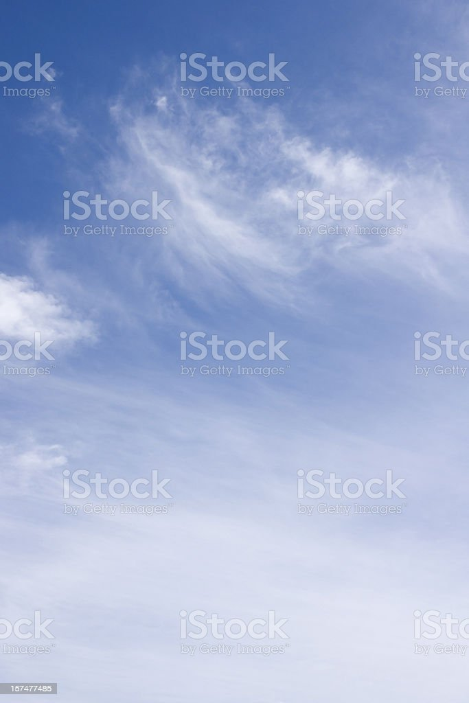 sky only wispy cloudscape background royalty-free stock photo