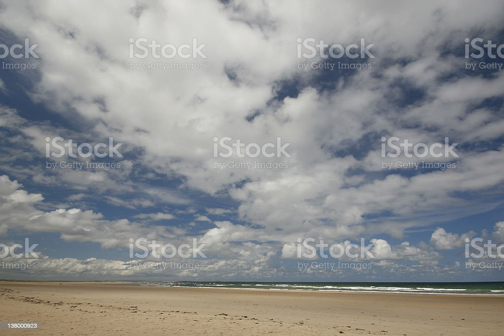 Sky over Budle Bay royalty-free stock photo