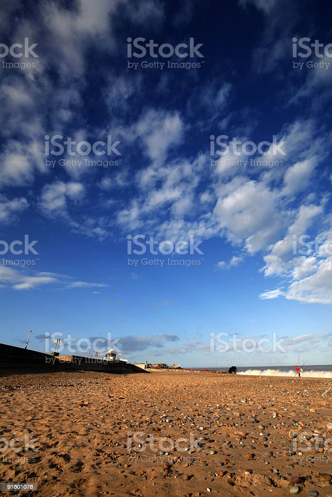 Sky over seaside royalty-free stock photo