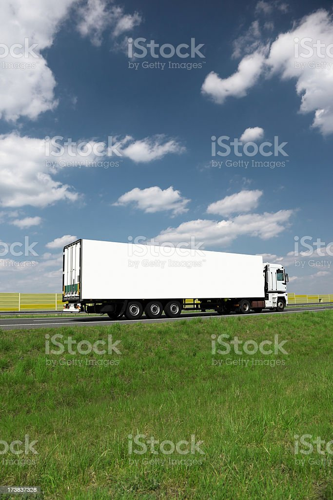 Sky Over White Truck royalty-free stock photo