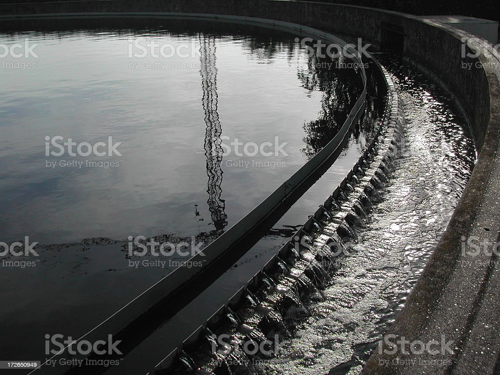 Sky reflecting in mud Tank royalty-free stock photo