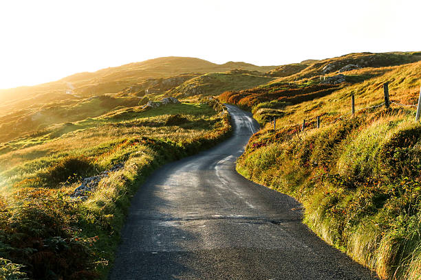 Sky Road, Clifden, Ireland stock photo